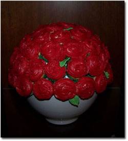Cupcake Bouquet Red