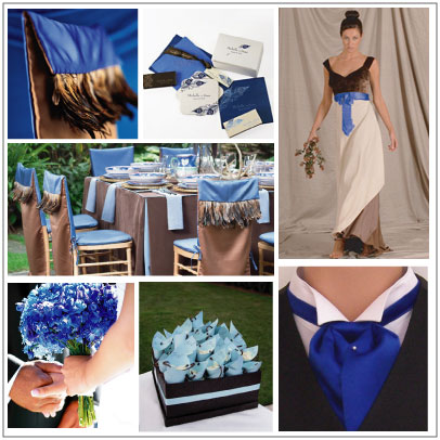 Blue, Brown & Cream : myecochicwedding.com