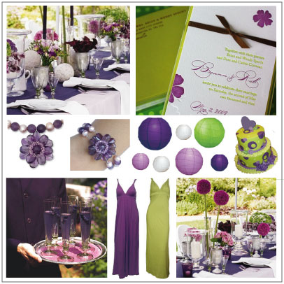 Green Purple Wedding Inspiration July 5 2009 by ecochic