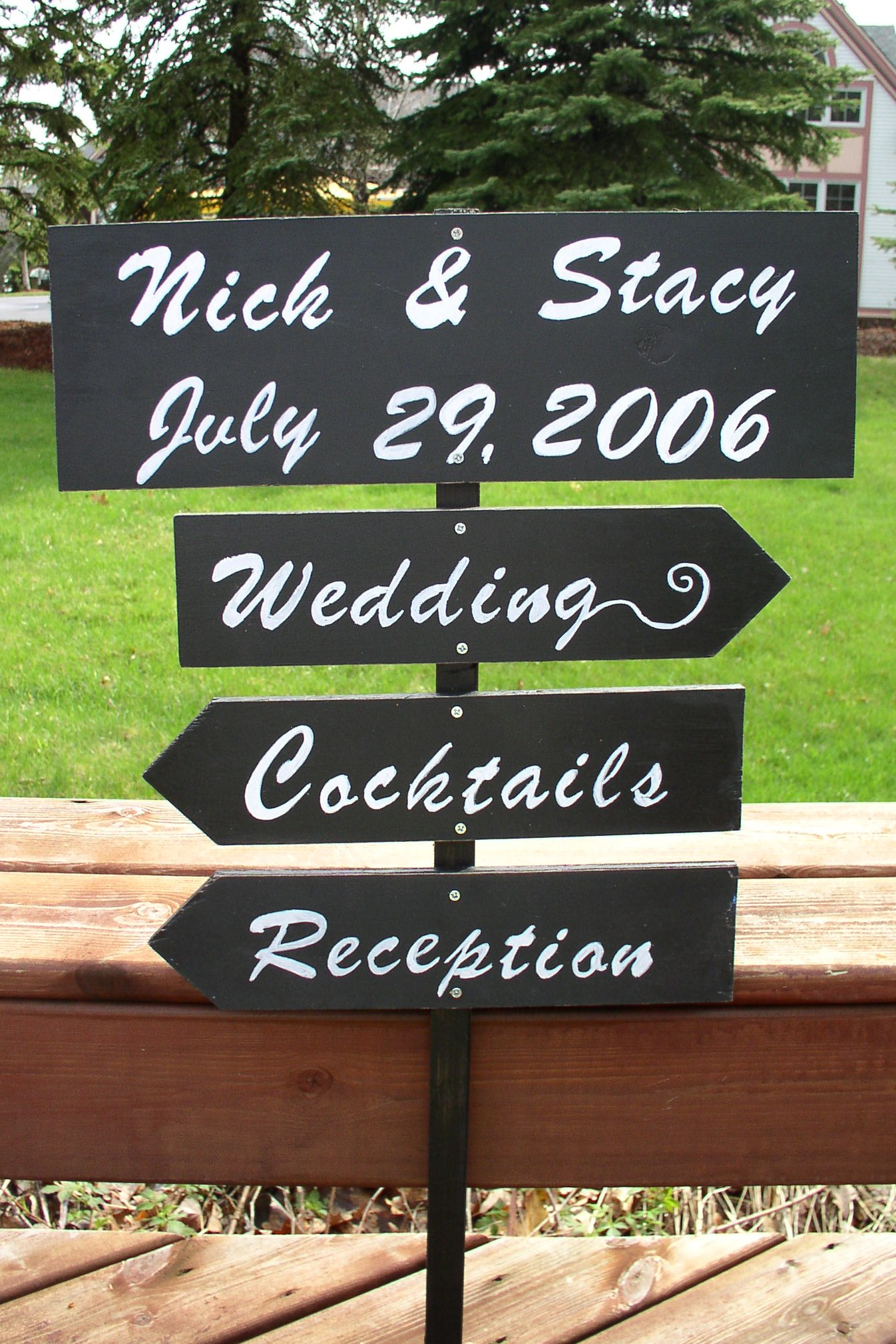 Wedding Direction Signs Myecochicwedding